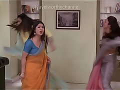 Divyanka tripathi low hip saree Deep Navel slips