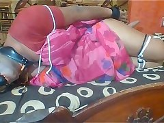 Painfully hogtied Whore struggling to escape