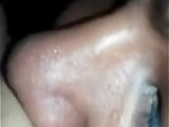 indian wife moans while her man licks her pussy